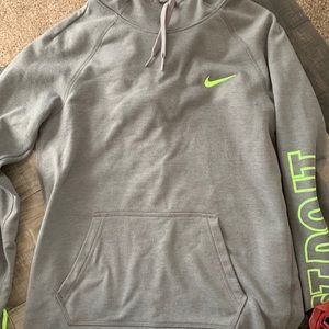 Gray and lime green hoodie